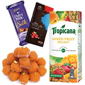 Tropicana With Chocolates Combo: Gifts For Girlfriend Nishatpur,  Bhopal