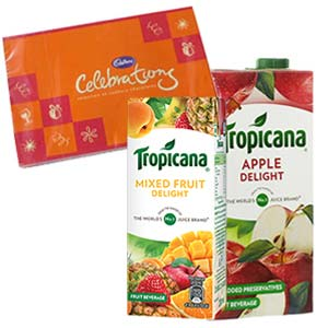 Two Tropicana Juice Combos: Gifts For Sister Idgah Hills,  Bhopal
