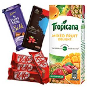 Tropicana And Chocolates Combo: Gifts For Her Kopal,  Bhopal