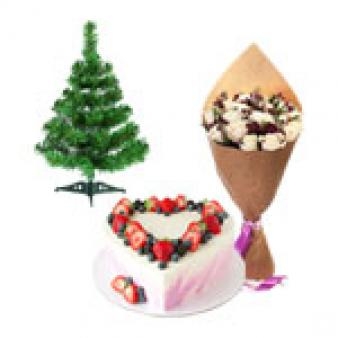 Christmas Gifts With Heart Shape Cake: Christmas Kahna Sayiya,  Bhopal