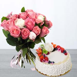 Pink Roses Gifts Combo: Gifts For Brother Sikandrabad,  Bhopal