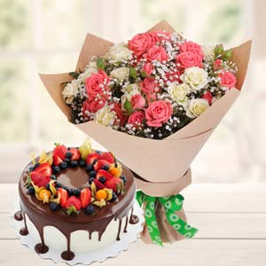 Vanila Chocolate Fruit Cake Combo: Gifts For Sister Kolua Kalan,  Bhopal