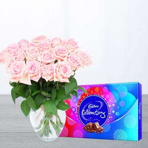 Pink Roses And Chocolates : Gifts For Her Data Colony,  Bhopal