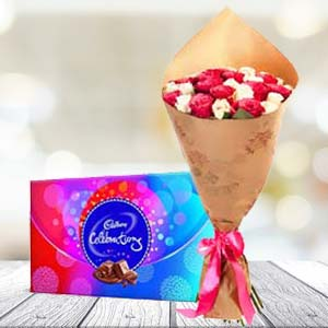 Mix Roses And Chocolates: Gifts For Boyfriend Jp Nagar,  Bhopal
