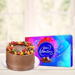Chocolate Cake Gifts Combo: Valentine Gifts For Husband Bharkheda Bondar,  Bhopal