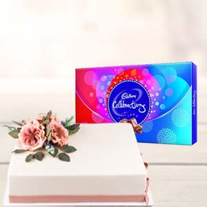 2 KG Cake Gifts Combo: Gifts For Girlfriend Idgah Hills,  Bhopal