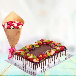 2 KG Chocolate Cake Gifts Combo: Gifts For Girlfriend Nishatpur,  Bhopal
