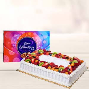 2 KG Pineapple Fruit Cake: Valentine Gifts For Wife  Bhopal