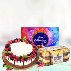 Chocolate Gifts With Fruit Cake: Rakhi Data Colony,  Bhopal