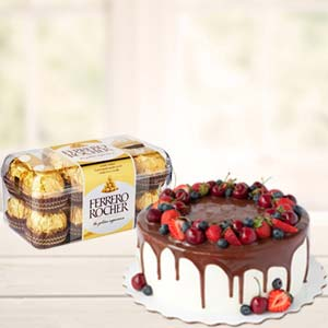 Cake Combo With Chocolates: Gifts For Her Meerpur,  Bhopal