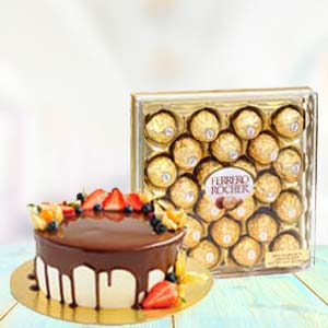 Yummy Chocolates With Fruit Cake: Gift Krishna Nagar,  Bhopal