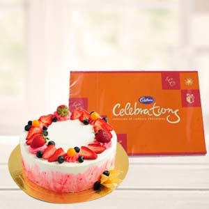 Cake Combo With Chocolate: Gift Sikandrabad,  Bhopal