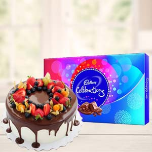 Cake Gifts With Celebrations: Gifts For Sister Arhedi,  Bhopal