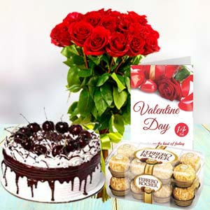 Regular Combo: Birthday-flowers-&-cake  Bhopal