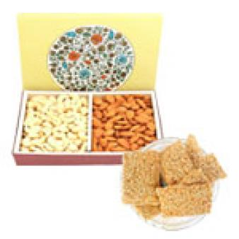 Dry Fruits With Gajak: Lohri Gifts Kolua Kalan,  Bhopal