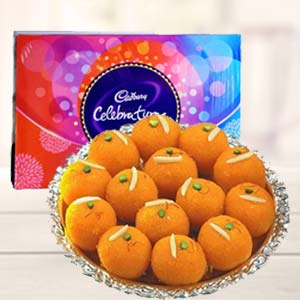 MotiChoor Ladoo With Celebration: Gift Ayodha Bypass,  Bhopal