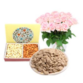 Flower With Dry Fruit And Revdi: Lohri Gifts Imliya,  Bhopal
