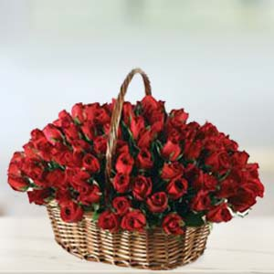 Special 70 Rose Basket: Valentine's Day Flowers Bda Colony,  Bhopal
