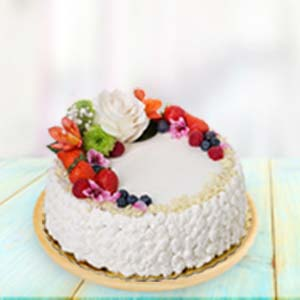 Fresh Fruit Cream Cake: Valentine Gifts For Husband Arera Hills,  Bhopal