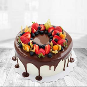 Chocolate Fruit Cake: Valentine's Day Baskheda,  Bhopal