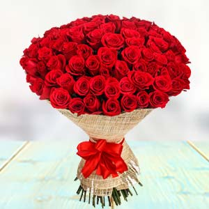 100 Red Roses: Valentine's Day  Bhopal