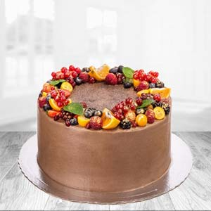 1 KG Chocolate Fruit Cake: Gifts For Wife Krishna Nagar,  Bhopal