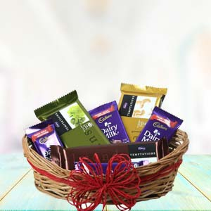 Cadbury Chocolate Basket: Rose Day Palasi,  Bhopal